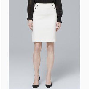 White House Black Market WHBM White Pencil Skirt 8